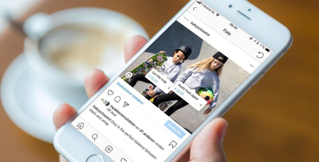 """Instagram spotted testing """"order"""" button"""